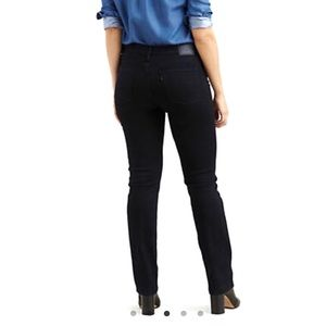 Levi's Sculpt 314 Shaping Mid Rise Straight Jeans